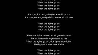 U2-The Blackou-t karaoke