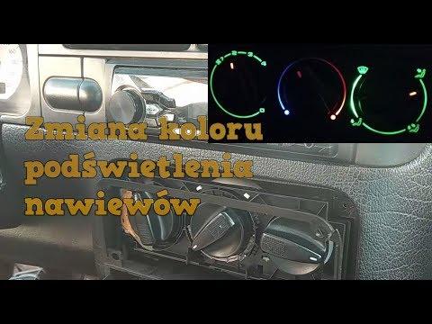 Zmiana Koloru Podświetlenia Pokręteł Nawiewu - Golf 3 Tuning