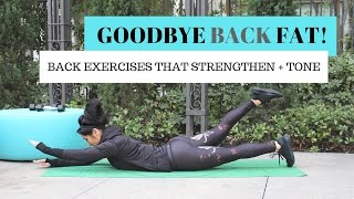 Best Back Toning Exercises | How To Lose Back Fat
