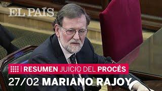 RAJOY, en el JUICIO del 'PROCÉS':