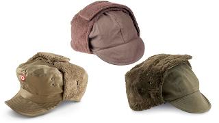 СРАВНЕНИЕ: Зимние шапки-ушанки Бундесвер, Австрия, Франция
