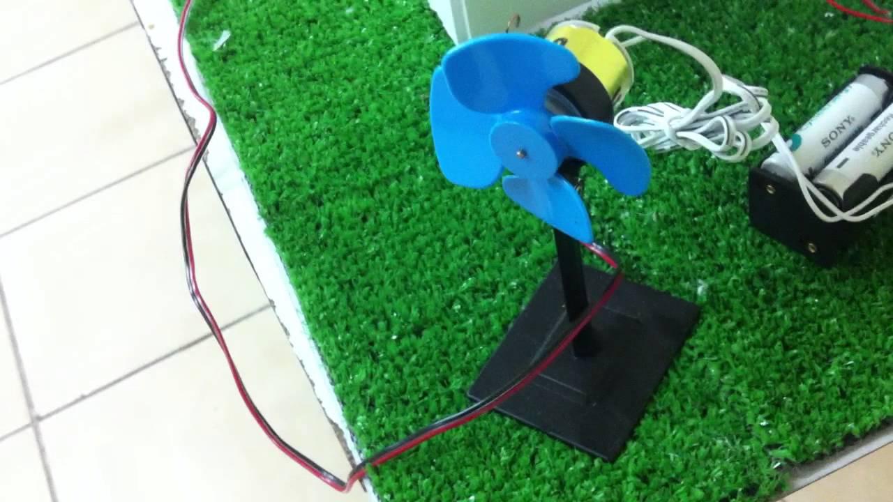 Maqueta funcional panel solar y aerogenerador youtube for Para desarrollar un parque ajardinado