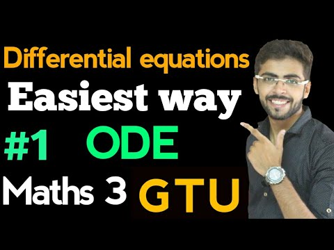 Ordinary Differential Equations in Hindi  first order ordinary differential equations  ODE 1