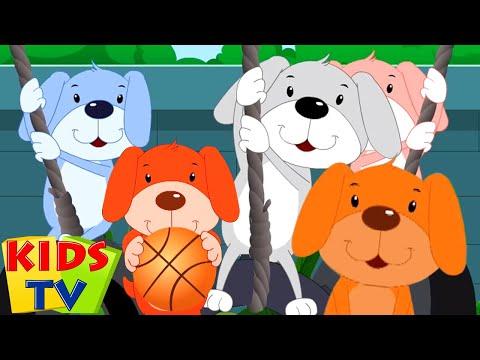 fünf-kleine-welpen- -kinderlieder-zum-mitsingen- -kids-tv-deutschland- -zeichentrick-für-kinder