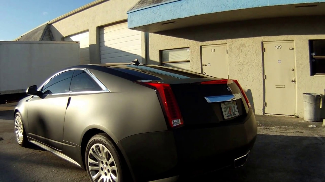 Cadillac Cts Matte Black Car Wrap Fort Lauderdale Miami