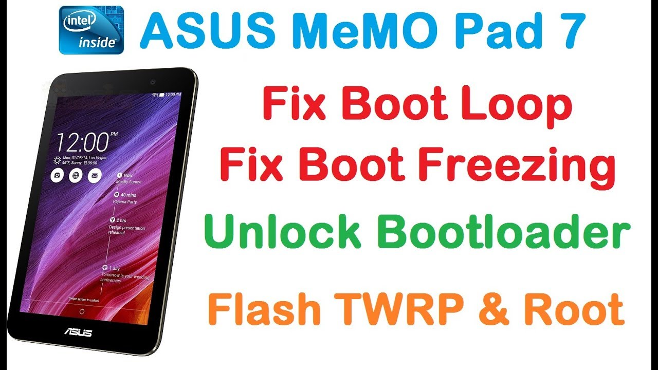 UNBRICK ASUS Memo Pad 7/FIX Boot Loop Freezing