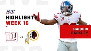 Saquon Barkley Rips Through Redskins D | NFL 2019 Highlights