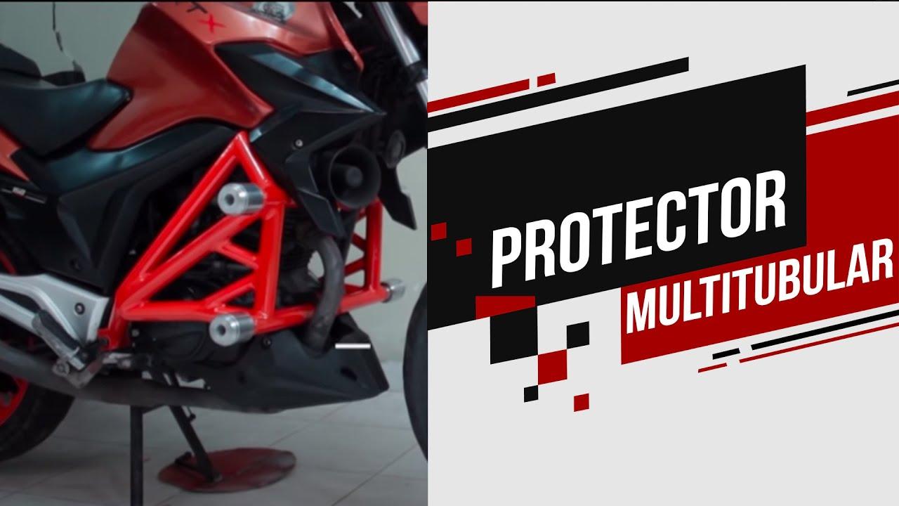Moto modificada AKT crash cage