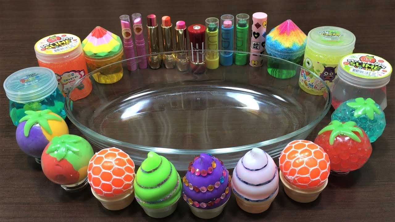 mixing-makeup-and-clay-into-store-bought-slime-relaxing-satisfying-slime