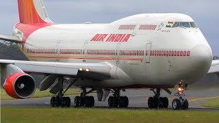 AIR INDIA ONE Boeing 747 Landing at Melbourne Airport with Ram Nath Kovind ONBOARD!