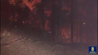 El fuego de Gran Canaria sigue sin control y avanza hacia el sur