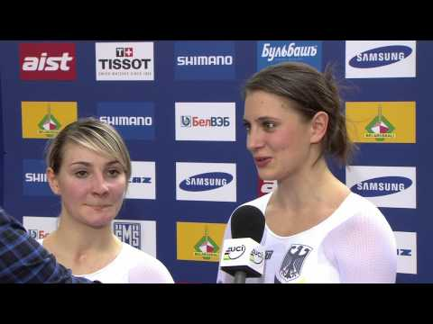 German team (Vogel & Welte) interview - Women's Team Sprint -- 2013 UCI World Track Championships