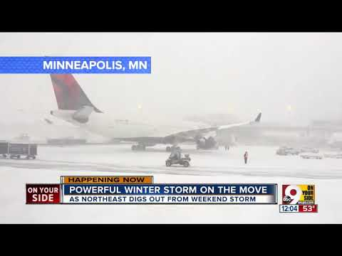 Powerful winter storm on the move