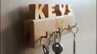 Key Holder DIY - Scrap Wood Projects