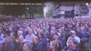 Fussballfan Allianz u. Veteranen marschieren auf London | 7. Oktober 2017