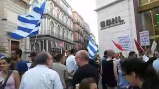 Grecia in default, Napoli solidale - Video Rosa de Cesare