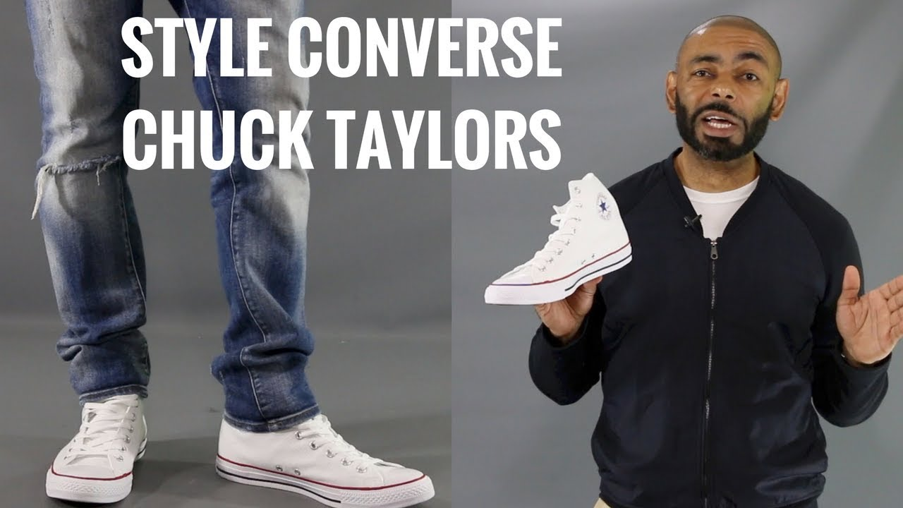 Men Wearing White Converse