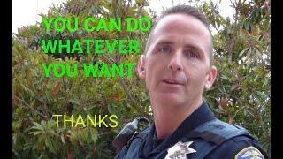 San Leando Police Dept. ( OFFICER TELLS A FIB ) 1st Amendment audit