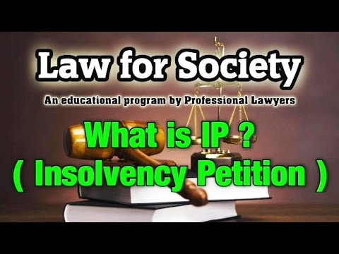 What is IP ( insolvency petition ) ? | Sai Krishna Azad