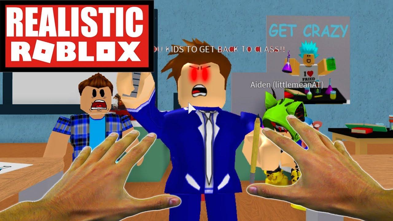 Realistic Roblox Escape The School Obby Escape The Evil