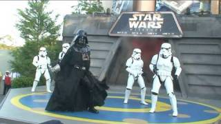 Darth Vader and Stormtroopers dance to Michael Jackson at Disney's Star Wars Weekends 2010
