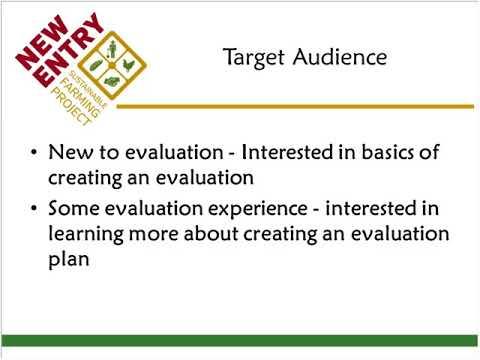 BFRDP Grant Application - Developing an Evaluation Plan 9/19/17
