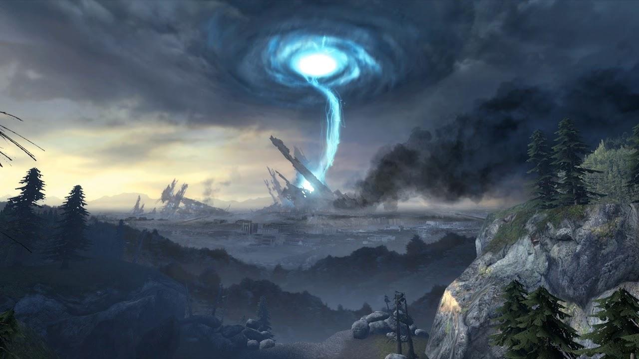 Half Life 2 Citadel Portal Animated Wallpaper Ultra Wide Youtube