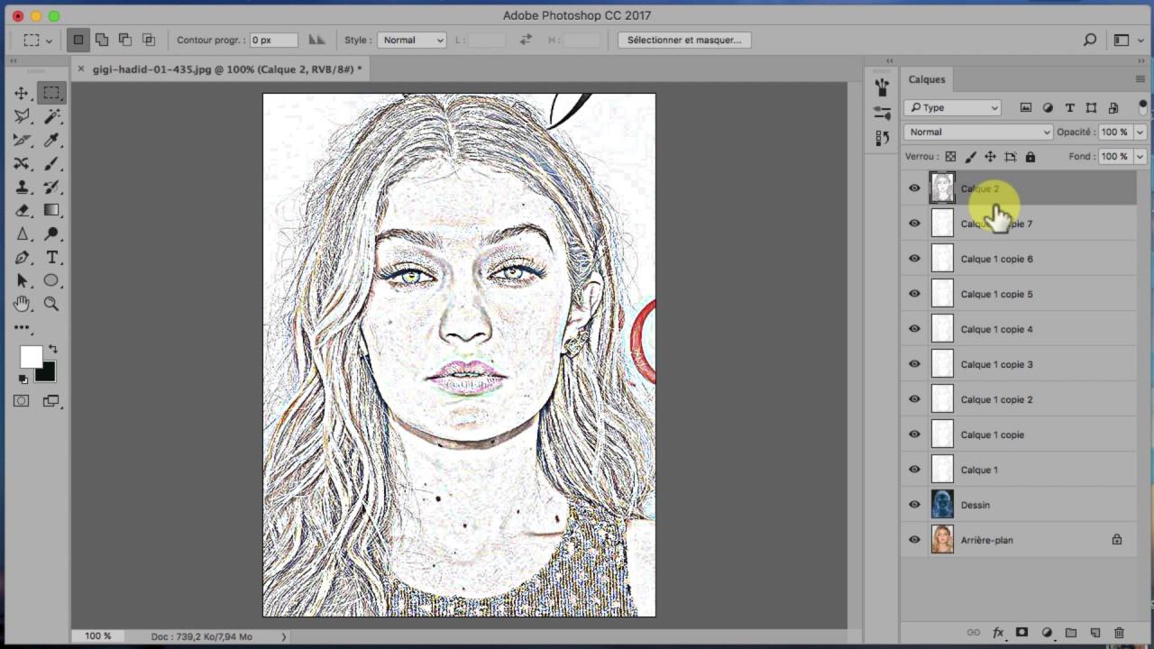 comment transformer une image en portrait dessin en moins de 3 minutes