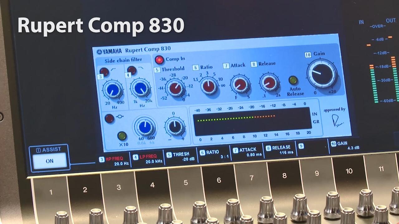 Yamaha RIVAGE PM10 Rupert Comp Plugins