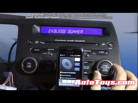 Android CONTROL to Factory Car Radio  Grom MP3 Aux AALinQ  no Ipod needed!
