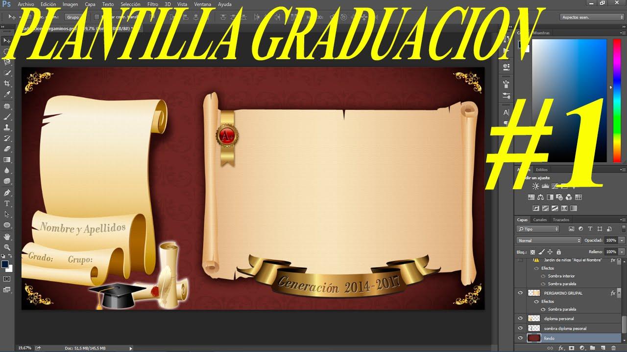 Plantilla psd Pergamino para todo tipo de Graduación Calidad ...