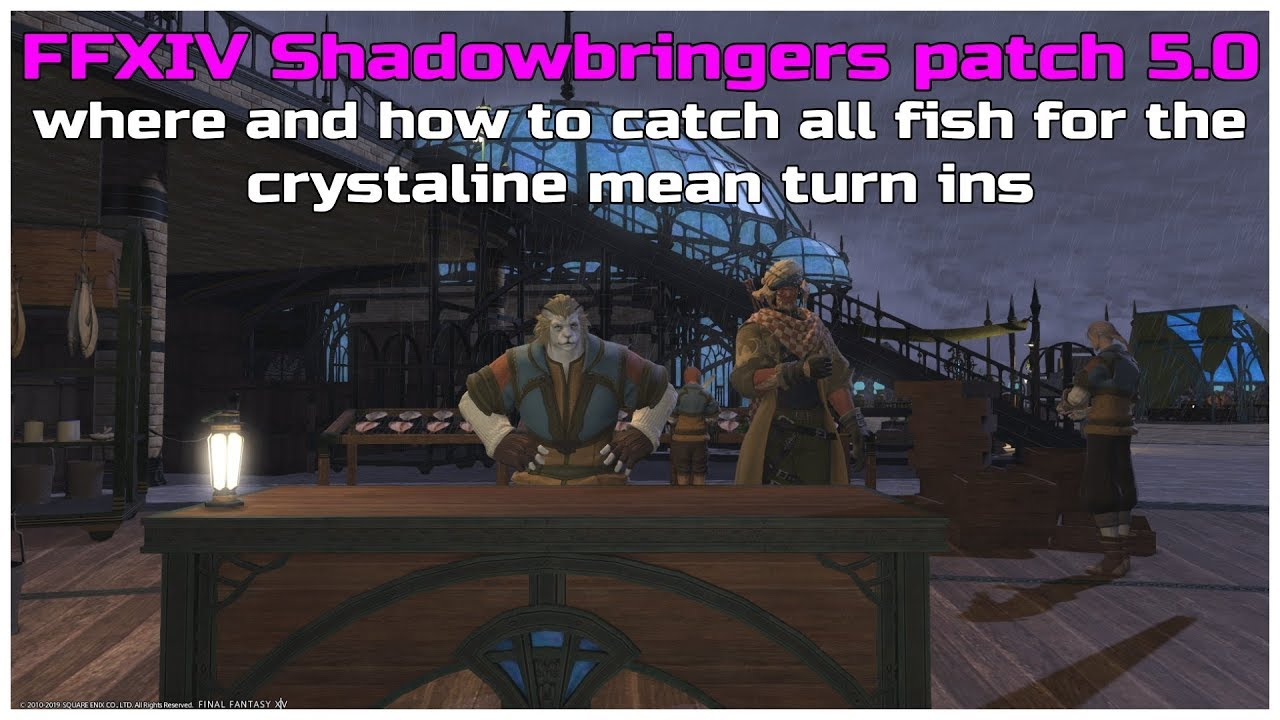 FFXIV shadowbringers patch 5 0 where and how to catch all fish for