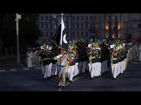 Pakistan military band performances in International Military Music Festival Moscow 5 Sep 2015
