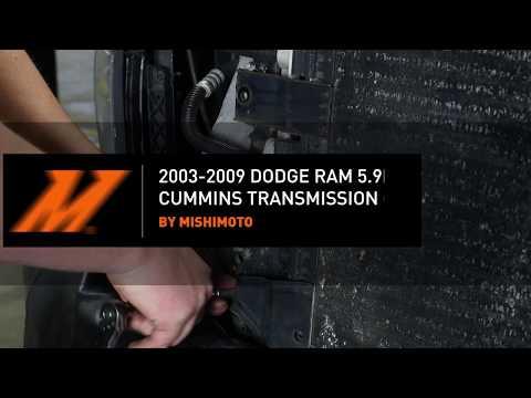 2003-2009 Dodge Ram 5.9L/ 6.7L Cummins Transmission Cooler Installation Guide By Mishimoto