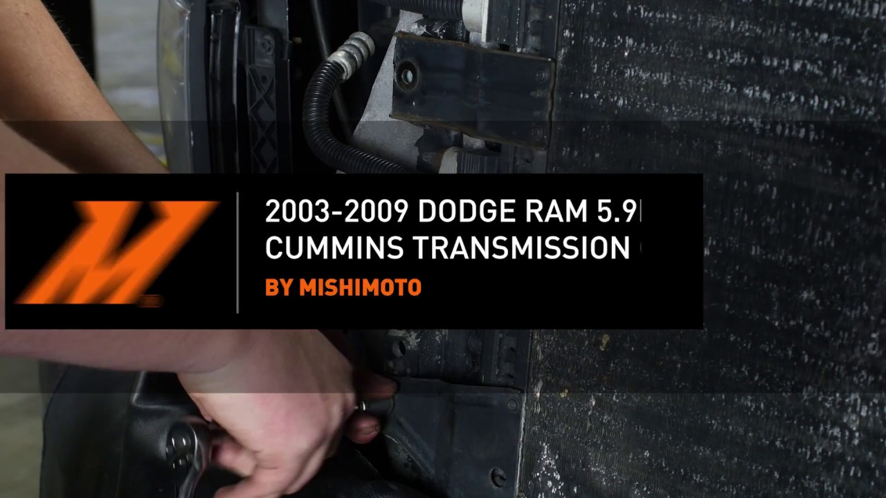 2003 2009 dodge ram 5 9l 6 7l cummins transmission cooler installation guide by mishimoto [ 1280 x 720 Pixel ]
