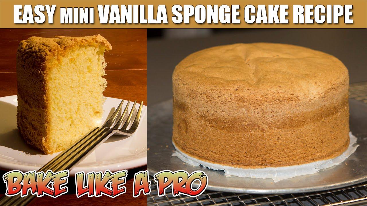 Easy Mini Vanilla Sponge Cake Recipe Youtube