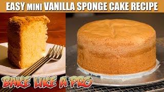 Easy Mini Vanilla Sponge Cake Recipe