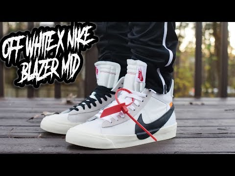 c32b546db67f OFF WHITE X NIKE BLAZER MID REVIEW AND ON FOOT !!! - YouTube