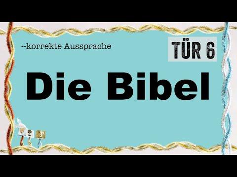TÜR 6: Korrekte Aussprache: DIE BIBEL (Luksans Wundervoller Adventskalender)