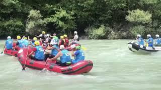 Valimiz Tuncay SONEL, WRF Başkanı Danilo Barmaz, WRF İkinci Başkanı Fikret YARDIMCI  rafting yaptı.