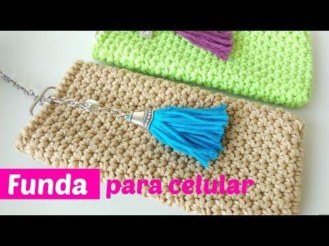 Funda crochet para celular