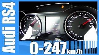 Audi RS4 Avant B8 4.2 V8 FSI Acceleration 0-247 km/h Beschleunigung Autobahn