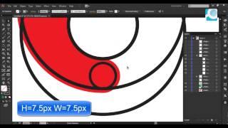 احترف تصميم الشعارات - تطبيق درس المنحنيات (الدوائر) - مجلة المصمم