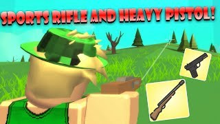 NEW SPORTS RIFLE AND HEAVY PISTOL!! Are they good? | Roblox: Island Royale