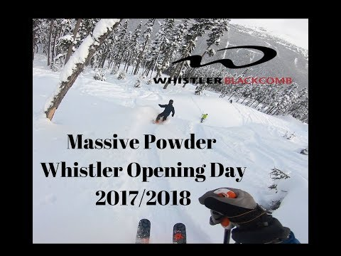 Whistler Opening Day 2017/2018, Massive POWDER skiing and snowboarding!