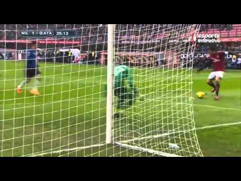 Kaká marca dois e Milan vence Atalanta
