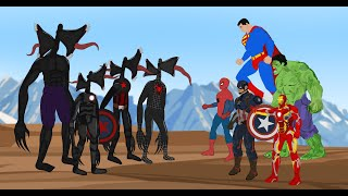 Team Hulk VS Color Black Team Siren Head [HD] | SUPER HEROES MOVIE ANIMATION