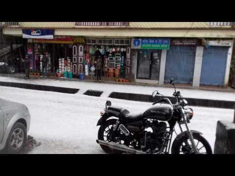 SNOW  FALL AT RAVANGLA, SIKKIM