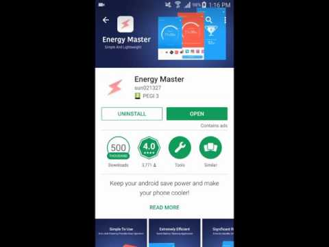 Energy Master for Android - One Click Your Phone Battery Saver