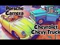 Unboxing Diecast Porsche 356 B Carrera & Chevrolet Chevy Truck Pickup 1955